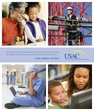USAC Annual Report 2009 - Universal Service Administrative ...