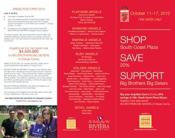 SHOP SAVE SUPPORT - Big Brothers Big Sisters
