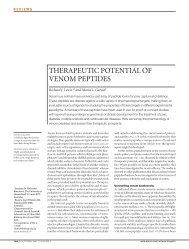 therapeutic potential of venom peptides - Institute for Molecular ...