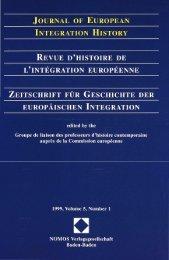 Journal of European Integration History - Revue - Centre d'études et ...