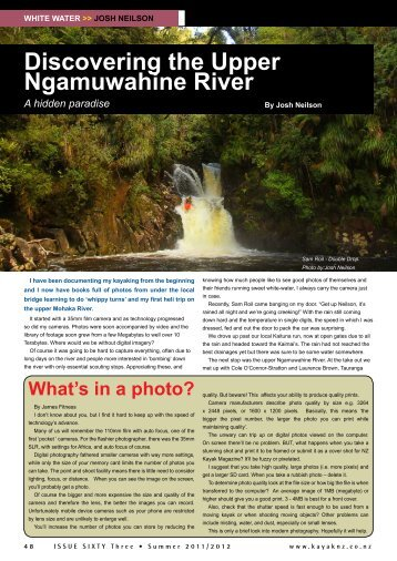 Discovering the Upper Ngamuwahine River - New Zealand Kayak ...