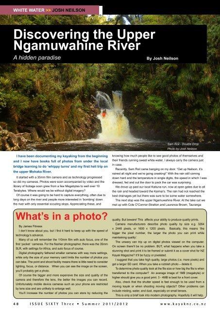 Discovering the Upper Ngamuwahine River - New Zealand Kayak ...