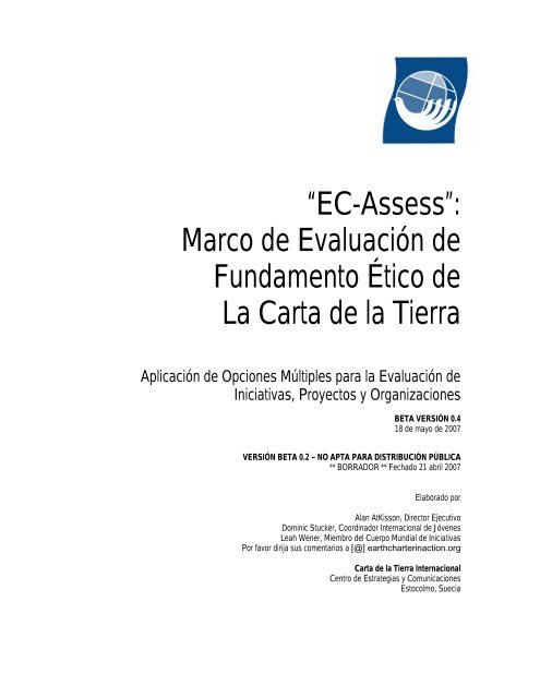 EC-Assess - Earth Charter Initiative