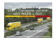 LKW – Transporte von und nach POLEN + GUS - EXPOL ...