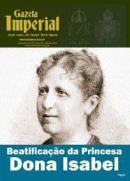 Gazeta Beatificação da Princesa - Brasil Imperial