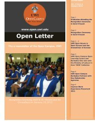 Open Letter Volume 4 January 2012 - The University of the West ...