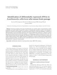 Identification of differentially expressed cDNAs in Acanthamoeba ...