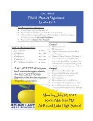 Monday, July 30, 2012 10:00 AM-7:00 PM At Round Lake High School