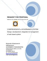 REQUEST FOR PROPOSAL - e-Tendering