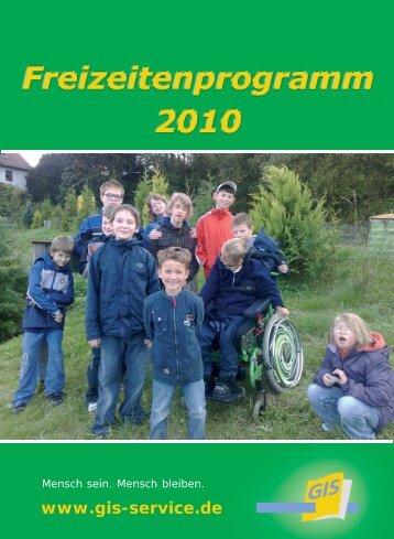 Freizeitenprogramm 2010 - bei der gGIS mbH