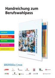 Handreichung zum Berufswahlpass - schul-welt.de