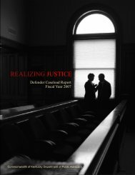 REALIZING JUSTICE - Department of Public Advocacy