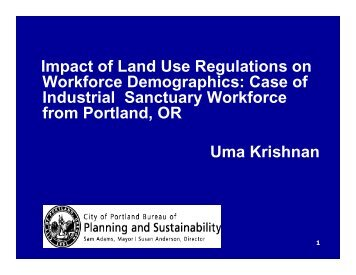 Impact of Land Use Regulations on Workforce Demographics: Case ...