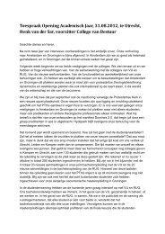 Lees hier de volledige toespraak van dr. Henk van der Sar.