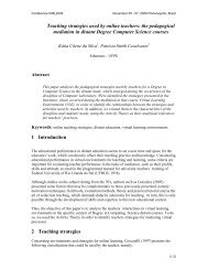 Teaching strategies used by online teachers: the pedagogical ...