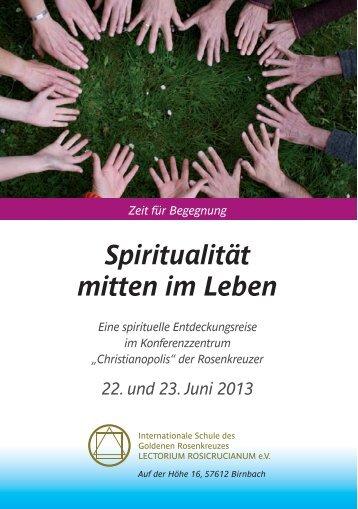 Spiritualität mitten im Leben