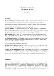 Programma di Filosofia Antica Anno Scolastico 2012-2013 Classe ...
