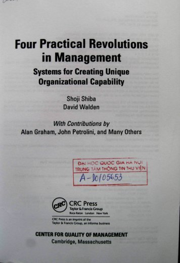 Four Practical Revolutions in Management