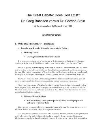 controversy between the existence of god essay Controversy about hell continues by : in his essay titled how to read dante, which introduces his translation of the divine comedy a primary argument against the existence of the god of the bible is that the biblical portrait of god is contradictory.