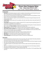 Illinois State Postgame Notes Final