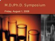 MDPhD Symposium 2008..