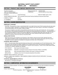 MATERIAL SAFETY DATA SHEET MSDS F-152 REVISION 11