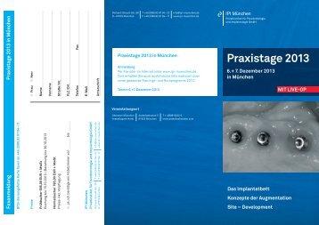1. Download Kursprogramm Praxistage 2013 - Dental Online College