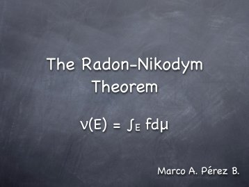 The Radon-Nikodym Theorem