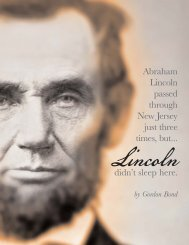Lincoln Didn't Sleep Here - Garden State Legacy