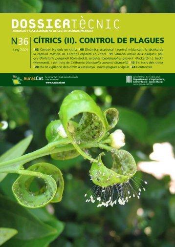 Dossier tècnic núm. 36: Cítrics (II). Control de plagues, en ... - RuralCat