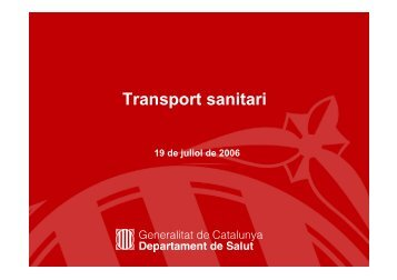 Transport sanitari no urgent (TSNU) - Generalitat de Catalunya