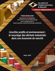 le recyclage des déchets industriels dans une économie de ... - IEDM