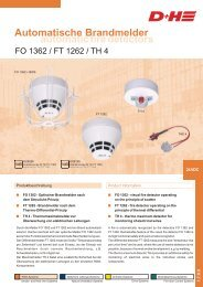 automatic fire detectors Automatische ... - D + H Brandrauch