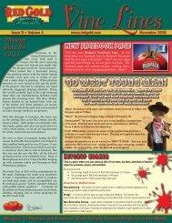 November 2010 Vine Lines Newsletter - Red Gold