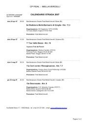 cp fidal biella/vercelli calendario strada 2007 - Fidal Piemonte