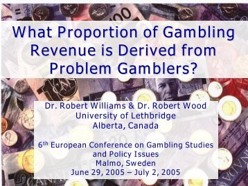 What Proportion of Gambling Revenue is Derived from Problem ...