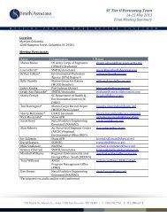 SC Tier II Meeting Summary – 14-15 May 2013 - Smith | Associates