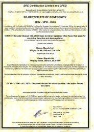 ec-certificate of conformity - Klaxon Signals Ltd.