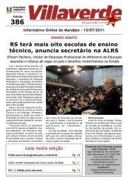 RS terá mais oito escolas de ensino técnico ... - Adão Villaverde