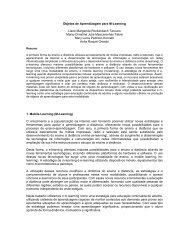 Objetos de Aprendizagem para M-Learning - Objectos de ...
