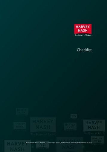 AWR Checklist - Impact assessment tick-list - Harvey Nash
