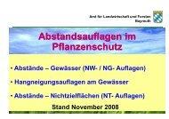 Abstände – Gewässer - Amt für Ernährung, Landwirtschaft und ...