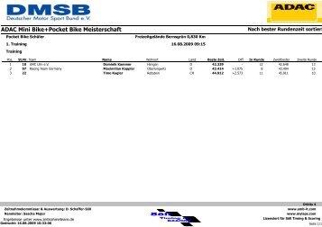 ADAC Mini Bike+Pocket Bike Meisterschaft - MSC Sachsenring ...