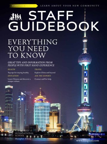 Staff Guidebook - British International School Shanghai