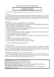 INFORMATICA LINGUISTICA (Dott. Marco Biffi) a.a. 2007-2008 - II ...