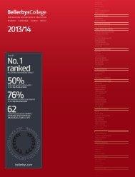 Bellerbys College Prospectus 2013 - Study Group