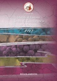 Regolamento 2013.pdf - Terre di Lambrusco