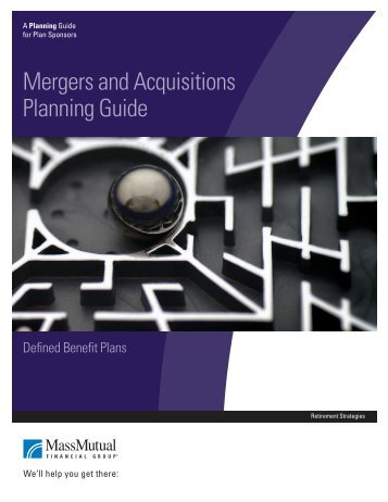 Mergers and Acquisitions Planning Guide - Retirement Services