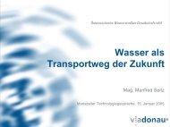 Wasser als Transportweg der Zukunft