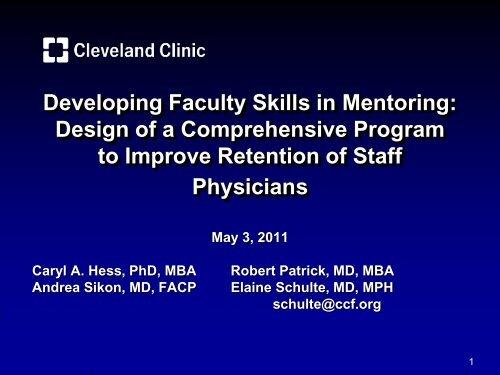 Developing Faculty Skills in Mentoring - Academic Pediatric ...